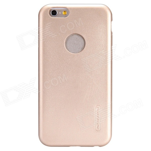 NILLKIN Victoria Series Protective PU Leather Back Case for IPHONE 6 PLUS - Champagne Gold wuw flavor a series for iphone 7 plus carbon fiber leather skin tpu pc hybrid back case gold