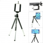 OUMILY Rotatable Mini Adjustable Retractable Tripod Holder Stand for / Camera / Mobile Phone - Black