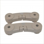Carking Car Vehicle Seat Headrest Hanging Hook Hanger for Shopping Bag / Coat - Beige (2pcs)