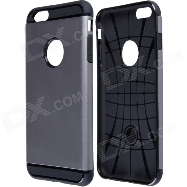 Slim Armor Style Protective PC + Silicone Back Case for IPHONE 6 Plus 5.5 - Gray