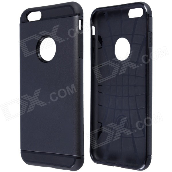 Slim Armor Style Protective PC + Silicone Back Case for IPHONE 6 Plus 5.5 - Black