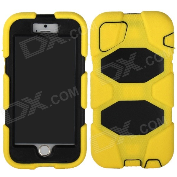 Angibabe 3-in-1 Silicon + PC Hard Back Case w/ for IPHONE 6 - Yellow + Black asus zenwatch 3 wi503q silicon
