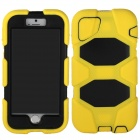 Angibabe 3-in-1 Silicon + PC Hard Back Case w/ for IPHONE 6 - Yellow + Black