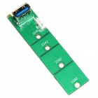 WBTUO Free-Driver Desktop M.2 (NGFF) to USB3.0 Adapter Card - Green
