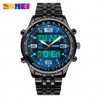 SKMEI 1032 Men's Sports Zinc Alloy Ditial Analog Wrist Watch - Blue + Black (1 x CR2025)
