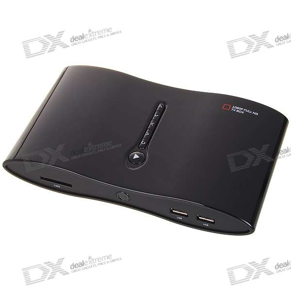 H.264 RM / RMVB Full HD Media Player con HDMI / SDHC / 2 * USB / Component / Coaxial / RJ45