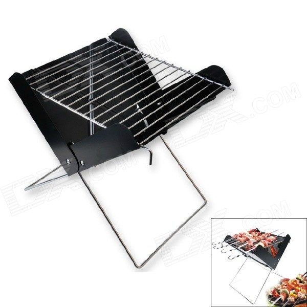 HX Outdoors BBQ-03 Portable Foldable BBQ Barbecue Grill Set - Black bbq grill steam cleaning brush barbecue oven accessory heavy duty cooking tool