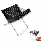 HX Outdoors BBQ-03 Portable Foldable BBQ Barbecue Grill Set - Black