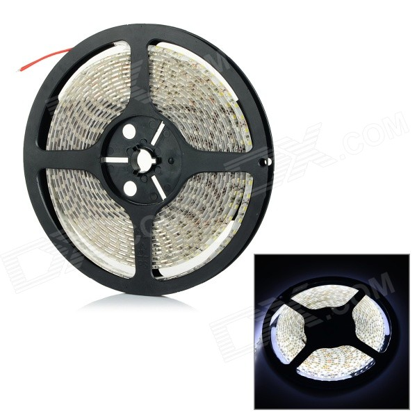Waterproof 72W 2400lm 6500K 600-SMD 3528 LED White Car Decoration Light Strip - White (DC 12V / 5M)