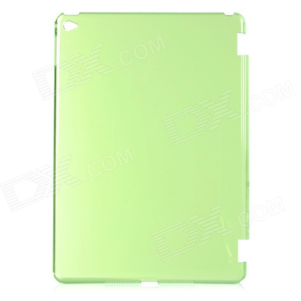 Protective Plastic Back Case Cover for IPAD AIR 2 - Transparent Green one piece 1x brand new high quality silicon protective skin case cover for xbox 360 remote controller blue green mix color