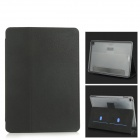 Protective PC + PU Leather Full Body Case w/ Stand / Card Slots for IPAD AIR 2 - Black