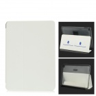 Protective PC + PU Leather Case w/ Stand / Card Slots for IPAD AIR 2 - White