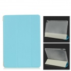 Ultra-dünne Schutz PC + PU Full Body Case w / Stand / Auto-Sleep für IPAD AIR 2 - Sky Blue + White