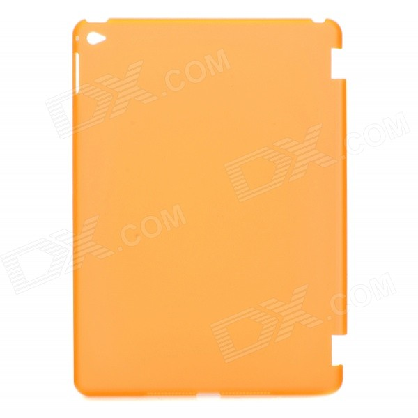 Protective Matte Translucent Plastic Back Case for IPAD AIR 2 - Orange creative s shape silicone back case matte protective case for retina ipad mini translucent grey