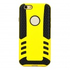 "Protective Detachable TPU Back Case for IPHONE 6 4.7"" - Yellow + Black"
