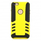 Protective Detachable TPU Back Case for IPHONE 6 PLUS - Yellow + Black