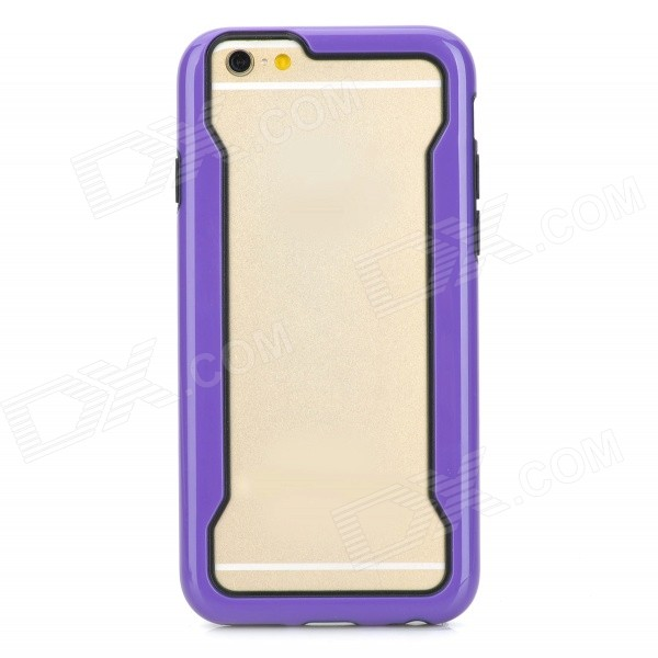 Protective TPU Bumper Frame Case for IPHONE 6 4.7 - Deep Purple + Black