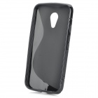 Protective S-Pattern TPU Back Case for MOTO G2 - Black