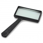 Handheld 10X 9.5 x 5cm Plastic Rectangle Glass Magnifier - Black
