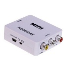 M-HD1 M165 Chip HDMI a AV / CVBS Full 1080P Audio Video Converter-Blanco + Negro