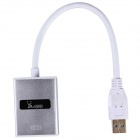Aoluguya HW01 USB 3.0 to HDMI Converter w/ USB Driver Disc / Six Display - Silver