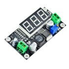 "LM2596 Adjustable 1.25~37V DC to DC Buck Module w/ 0.56"" Display Screen - Black"