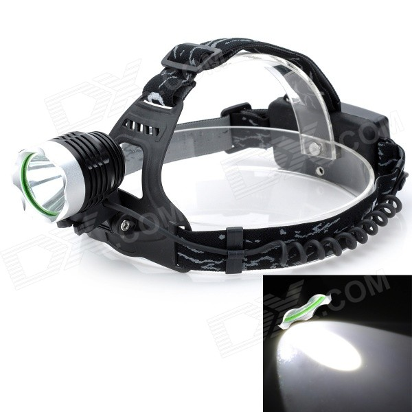 Outdoor 300lm 3-Mode Cool White Light LED Headlamp - Black (2 x 18650) portable 2 mode 2 led cool white light headlamp white blue multi color