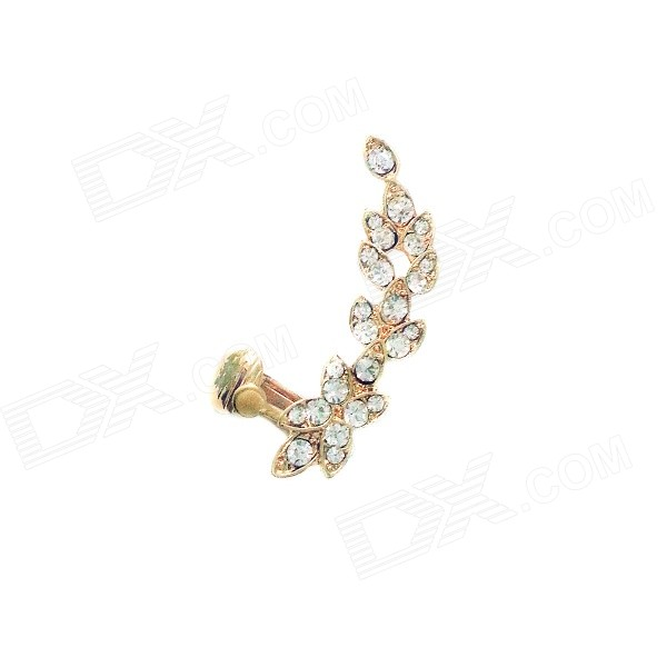 Women's Fashionable Rhinestone Studded Ear Bone Clip Earring - Golden