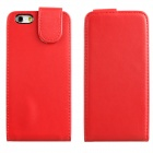 "DF-028 Protective Top Flip Open PU Leather + Plastic Case for IPHONE 6 4.7"" - Red"