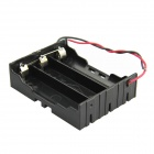 DIY 3-Slot Parallel 18650 Battery Holder w/ 2 Leads - Black