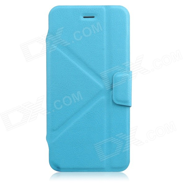 JSM Protective PU + TPU Flip Open Case w/ Stand for IPHONE 6 - Light Blue - DXLeather Cases<br>Color Light Blue Shade Of Color Blue Brand N/A Model N/A Quantity 1 Piece Material PU + TPU Compatible Models IPHONE 6 Style Full Body Cases Design Solid ColorWith Stand Auto Wake-up / Sleep No Packing List 1 x Protective Case<br>