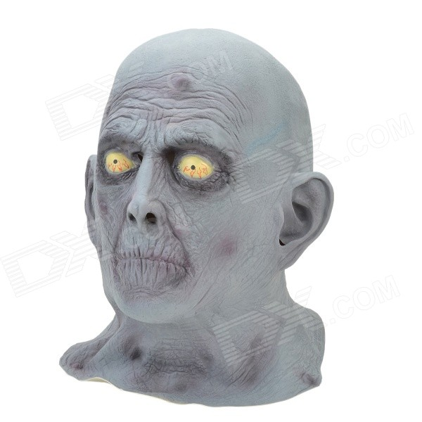 Halloween Party Cosplay Grey Zombie Mask for Men - Grey devil may cry 4 dante cosplay wig halloween party cosplay wigs free shipping
