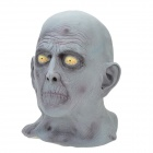 Halloween Party Cosplay Grey Zombie Mask for Men - Grey