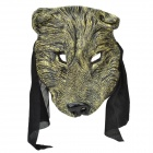 Wolf Style Rubber + Nylon Party Cosplay Mask - Bronze + Black