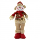770B Christmas Snowman Style Doll Gift - Brown + Red
