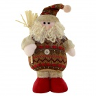 820A Christmas Santa Claus Doll Gift - Brown + Red