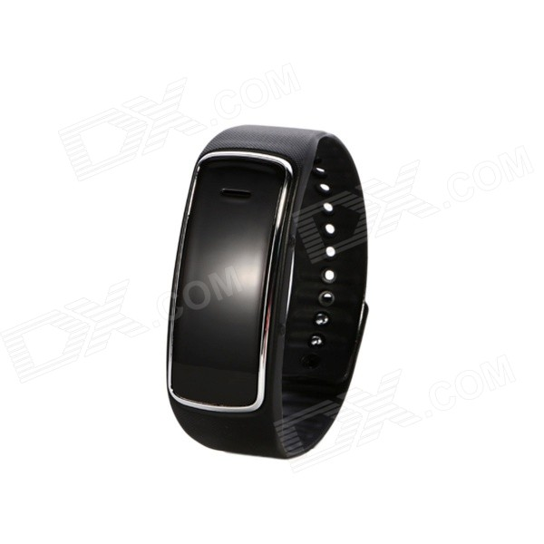 Silicone Band Bluetooth Smart Digital Analog Wrist Bracelet Watch - Black