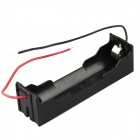 Buy DIY 1-Slot 18650 Battery Holder 2 Leads - Black