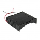 DIY 4-Slot Parallel 18650 Battery Holder w/ 2 Leads - Black