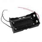 DIY 2-Slot 18650 Battery Holder w/ 4 Leads - Black