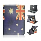 UK Flag Pattern 360' Rotary Protective PU Case w/ Stand for Samsung Galaxy Tab S 10.5 T800