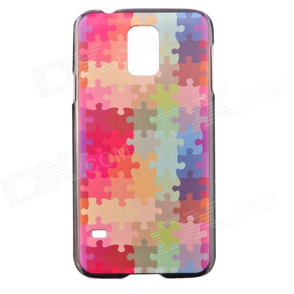 Color Painted Jigsaw Pattern Ultra Thin Shockproof Protective Back Case for Samsung Galaxy S5 N9600