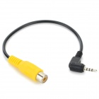 2.5mm Male to RCA Female Adapter Cable for GPS AV-IN - Black + Yellow