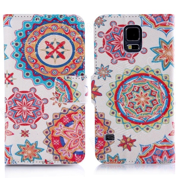 DF-012 Protective Case w/ Stand + Card Slot for Samsung Galaxy S5 i9600 / G900 - Multicolored - DXLeather Cases<br>Color White + Multicolor Brand N/A Model N/A Material PU Leather + Plastic Quantity 1 Piece Shade Of Color White Compatible Models Samsung Galaxy S5 i9600 / G900 Packing List 1 x Protective Case<br>