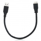 USB3.0 Male to Micro USB Male Audio and Video Connecting Cable - Black (28cm)