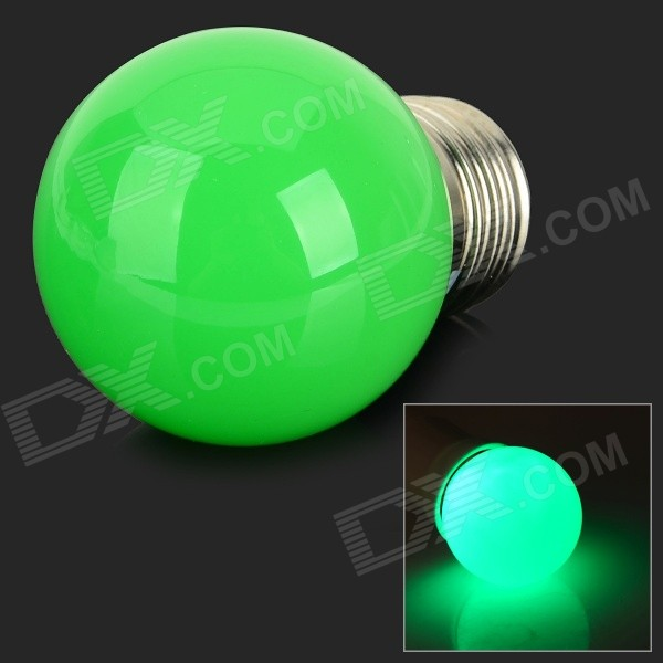 MLSLED MLX-SD-CP-N Romantic Style E27 1W 120lm 560nm 3-SMD 3528 LED Green Holiday Bulb - Green