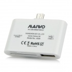 MAIWO KS09 Multi-functional USB 2.0 TF / SD / MMC Card Reader for OTG-enabled Devices - White