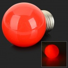 MLSLED MLX-SD-CP-HO Romantic Style E27 1W 120lm 700nm 3-SMD 3528 LED Red Holiday Light Bulb - Red