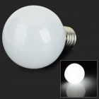 E27 5W 400lm 6000K 10-SMD 5730 LED White Light Bulb - White + Silver (AC 85~265V)