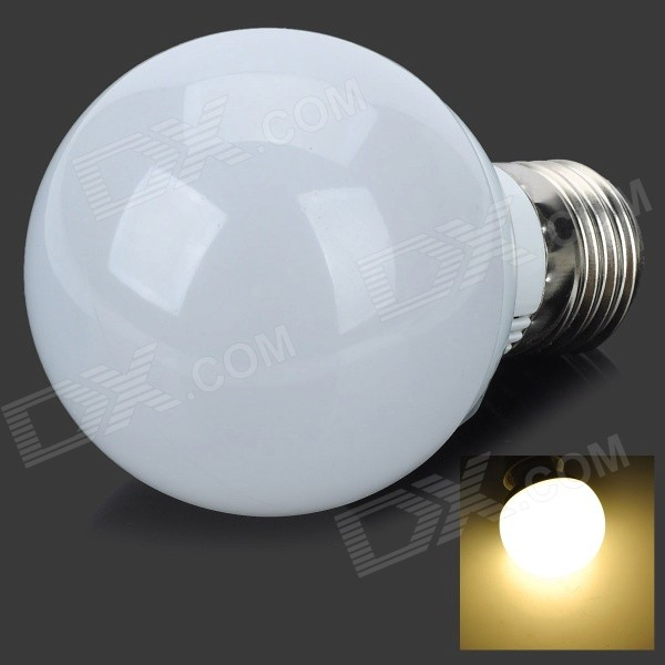 E27 5W 400lm 2800K 10-SMD 5730 LED Warm White Light Bulb - White + Silver (AC 85~265V) honsco e27 5w 400lm 3000k 84 smd 2835 led warm white light bulb white silver ac 85 265v